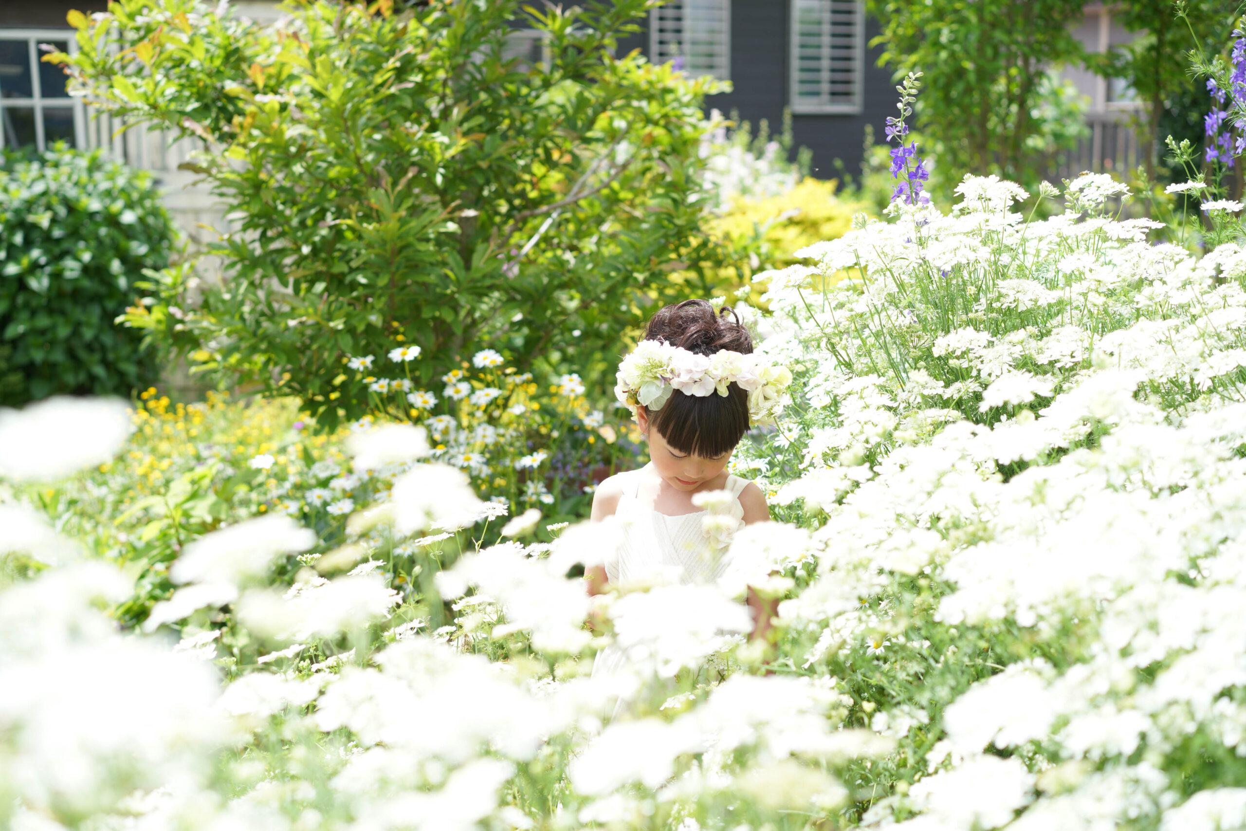 秘密の花園のような広いお庭でのびのびと